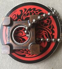 Steel Flame Killbox Ring Spin Copper Pendant & SF 5mm Dogtag Chain Necklace