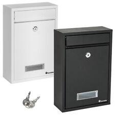 Briefkasten Wandbriefkasten Briefkastenanlage Postkasten Stahl weiß schwarz