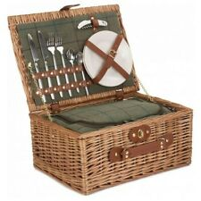 2 Person WillowTweed Fitted Wicker Picnic Basket.