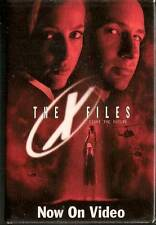X FILES The X Files NOW ON VIDEO PINBACK BADGE - Vintage