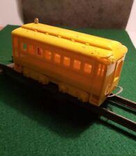 Vintage 1950s Schilling HO Electric Train Set Passenger Car Yellow