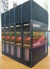 Lotto 5x Nastri Betacam SP Emtec 10M Metal Tape Master