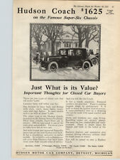 1922 Paper Ad Car Auto Automobile Hudson Coach Super Six Chassis Hudson Motor Co