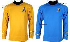 Star Trek Captain Kirk Spock CLASSIC Gold Blue Shirt Costume uniform TOS