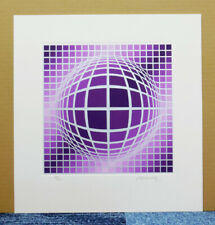 VICTOR VASARELY ORIGINAL SERIGRAPH? ETCHING? SIGNED and NUMBERED 42/100