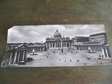 ancienne carte postale CPSM fotoscope panorama place St Pierre Rome