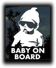 White Baby On Board Hangover Baby Sticker Sign Safety Vinyl Decal