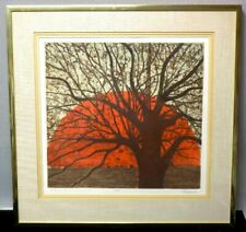 Magnificent Rare Joy Jerviss Hand-Signed and Numbered 35/175 Sunset Etching
