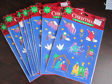 Christmas Wholesale Assorted Lot Of 10 Packs of Nativity Stickers 540 Stickers !