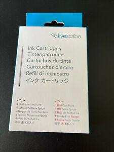 Livescribe Ink Cartridges 4 Black 1Red