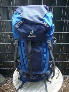 DEUTER AIRCONTACT 65+10 Wander-Trekking-Tourenrucksack Blau Nur 1x ben.Neuwertig