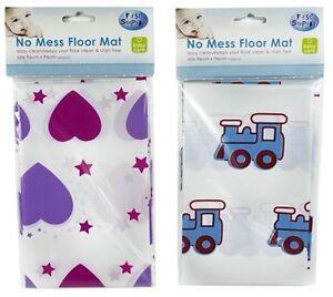NEW FIRST STEPS CHILD TODDLER HIGH CHAIR BABY FEEDING NO MESS FLOOR SPLASH MAT