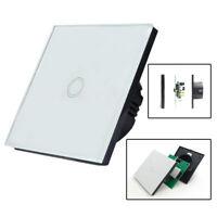 UK Plug 1/2/3 gang Crystal Glass Panel Light Touch Screen Wall Switch LED ILC