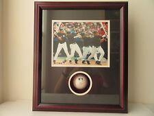 Mike Piazza Signed Baseball w/8x10 Multi-Exposure Photo Shadow Box COA Steiner