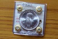MONETA REPUBBLICA ITALIANA 500 LIRE 1982 GALILEI sigillata FDC SUBALPINA