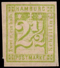 Germany - Hamburg Scott 12 (1864) Mint H F-VF, CV $140.00 D