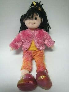 DARLING DEBBIE GROOVY GIRLS BLACK HAIR & PINK JACKET STUFFED PLUSH TY 2001 DOLL