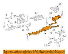 Acura HONDA OEM 10-11 TL 3.7L-V6-Muffler 18307TK5A02