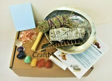 Complete White Sage Smudge Crystal Cleaning Kit: Palo Santo, Desert sage Abalone