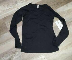 ATHLETA Foothill Long Sleeve Top Shirt Black NWT  Small #211280