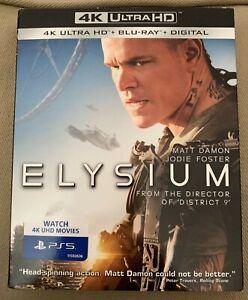 ELYSIUM 4K Ultra HD + Blu-Ray + Digital New Sealed W/slipcover Matt Damon Foster