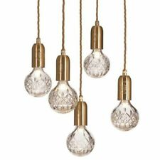 Pendants Minimalist Crystal Lights Hanging Lamps Golden Vintage Metal Indoor LED