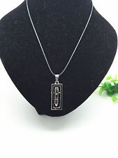 MAN'S Charm Fashion Jewelry Black Bullet Pendant Black Leather Necklace Gift#3