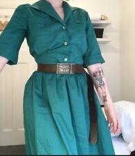 50s/60s Vintage Dress / Green