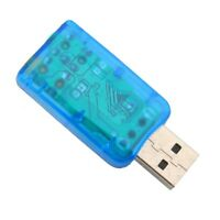 USB 2.0 Son Carte 3D Audio Sound Card 5.1 Adaptateur Sound Virtual BLEU Externe