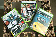 Xbox 360 Games Grand Theft Auto IV, Test Drive Unlimited, Madden 07, Complete