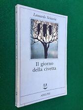 Leonardo SCIASCIA - IL GIORNO DELLA CIVETTA , Ed. Adelphi Fabula (1995) Libro