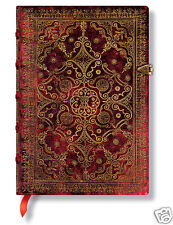 Paperblanks Blank Lined Writing Journal Carmine Medium Brown Mini Size 3X5 NWT