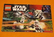 Lego Set 7655 INSTRUCTIONS ONLY Star Wars Storm Trooper Battle Pack Manual Book