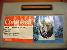 "NEW - CAMPBELL SNOW TRACTION CABLE CHAINS, 14"" TO 16"" TIRE SIZES"