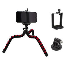 11 inch Flexible Spider Tripod with GoPro Mount and SmartPhone Holder