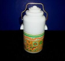 Vintage Avon Patchwork Cologne Mist Country Thermos Decanter Style - Empty