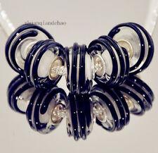 5pcs MURANO Lampwork charm Beads fit 925 silver European Bracelet Chain a820