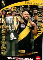 ✺Mint✺ 2019 RICHMOND TIGERS AFL Premiers Card SHANE EDWARDS Teamcoach