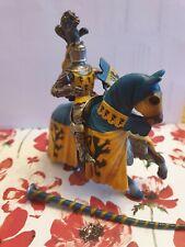 Schleich Knight on Horse blue yellow 2003