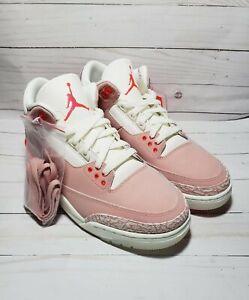 Nike Air Jordan 3 Retro Rust Pink Crimson CK9246-600 Women's Size 10.5/Men's 9