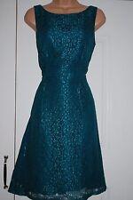 MONSOON GREEN LACE DETAIL FIT & FLARE SWING DRESS SIZE 14