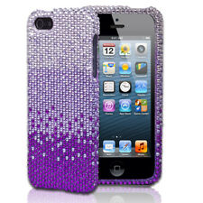 Silver/Purple Diamond Style Snap-on Case Cover For Apple iPhone 5 5G 5th Gen