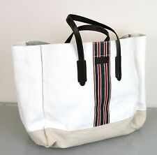 New Authentic GUCCI Canvas Mens Large Wide Tote Top Handle Bag w/Web, 308837