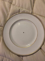 VINTAGE ENGLAND ROYAL DOULTON OXFORD GREY FINE CHINA BOTTOM TIER SERVING PLATE!