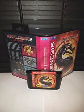 Mortal Kombat 6 - 28 People Game for Sega Genesis! Cart & Box!