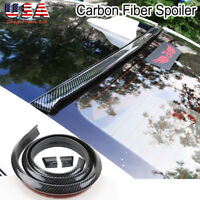 "57"" Universal Carbon Fiber Spoiler Rubber Rear Roof Trunk Molding Lip Sport Wing"