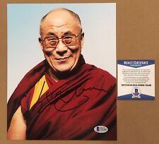 DALAI LAMA Signed Autographed 8x10 Photo His Holiness BECKETT BAS COA
