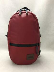 COACH   Leather Red Fashion Back Pack 393 From Japan