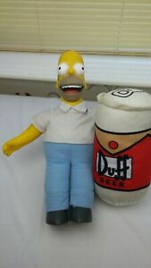 The Simpsons large Talking homer & Duff Beer Can Plush Soft Toy 20th century Fox