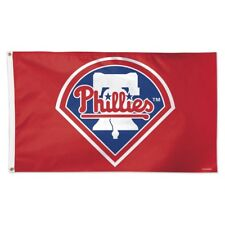 PHILADELPHIA PHILLIES LIBERTY BELL LOGO 3'X5' DELUXE FLAG NEW WINCRAFT